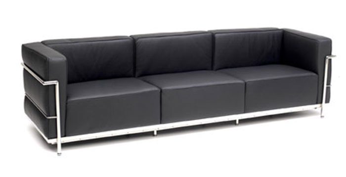 lc3 sofa lc3 divano sofa by le corbusier pierre jeanneret charlotte thesofa. Black Bedroom Furniture Sets. Home Design Ideas